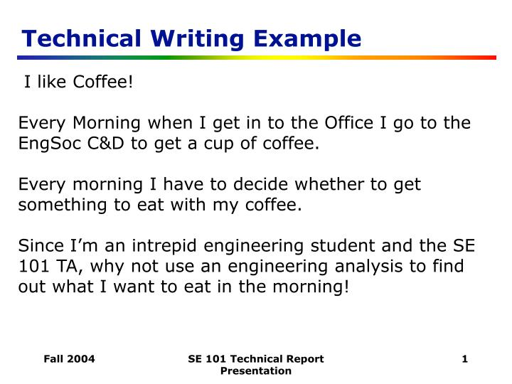 Technical Writing Examples College Paper Writing Service