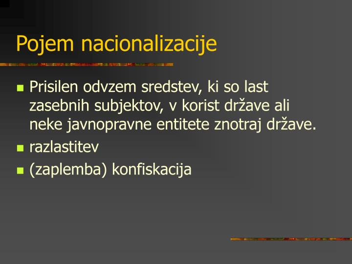 Pojem nacionalizacije