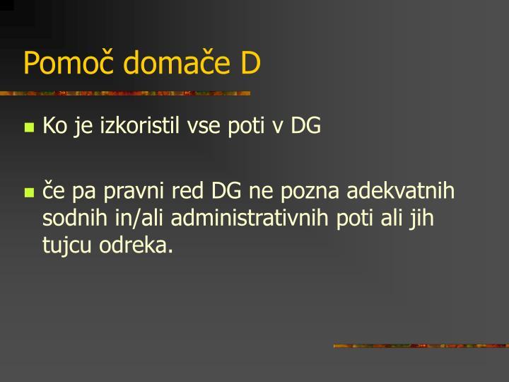 Pomoč domače D