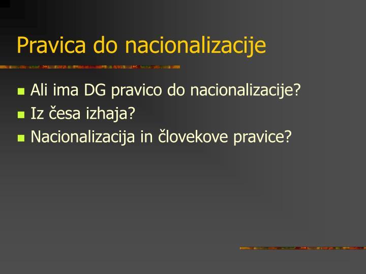 Pravica do nacionalizacije