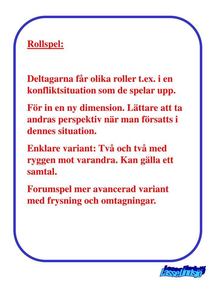 Rollspel: