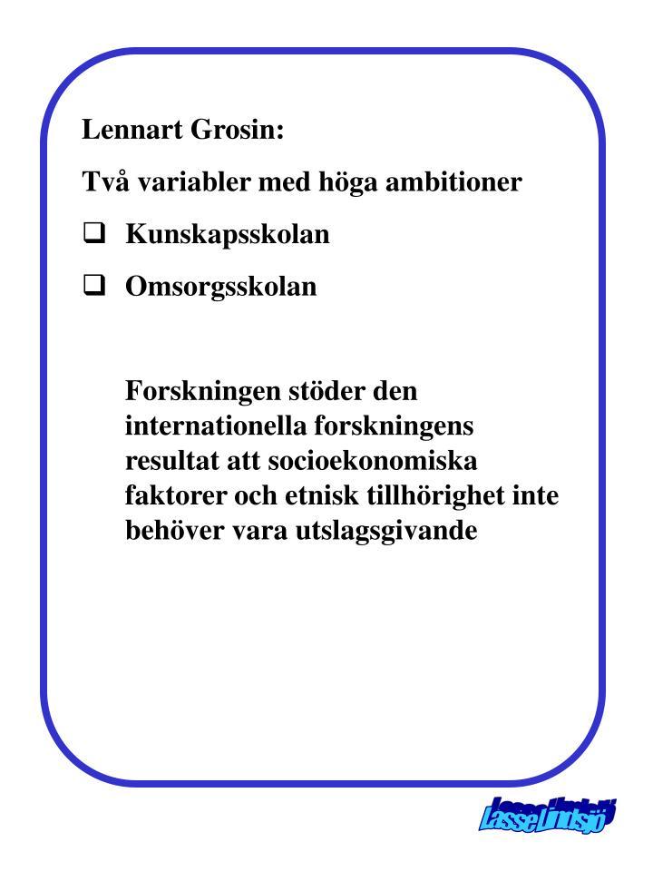 Lennart Grosin: