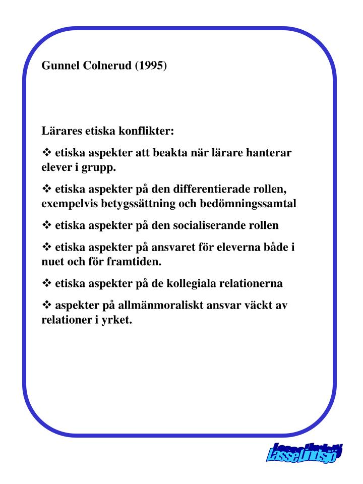 Gunnel Colnerud (1995)