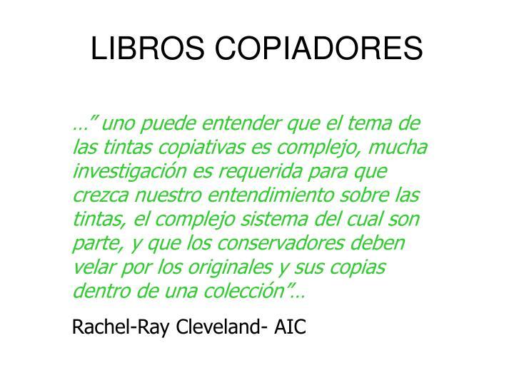 LIBROS COPIADORES
