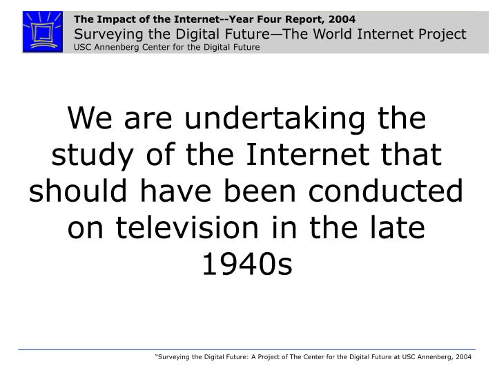 the impact of the internet or information The internet has radically changed the business world it has enabled companies to improve their competitive edge and increased productivity, simply because of the speed of socyberty suggests one reason for this is that internet users are information receivers rather than information creators.