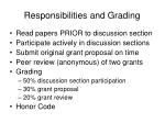 responsibilities and grading
