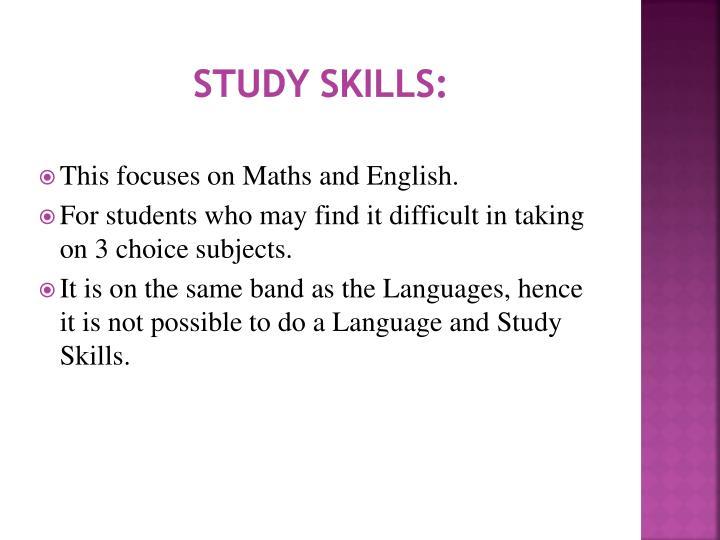 Study skills: