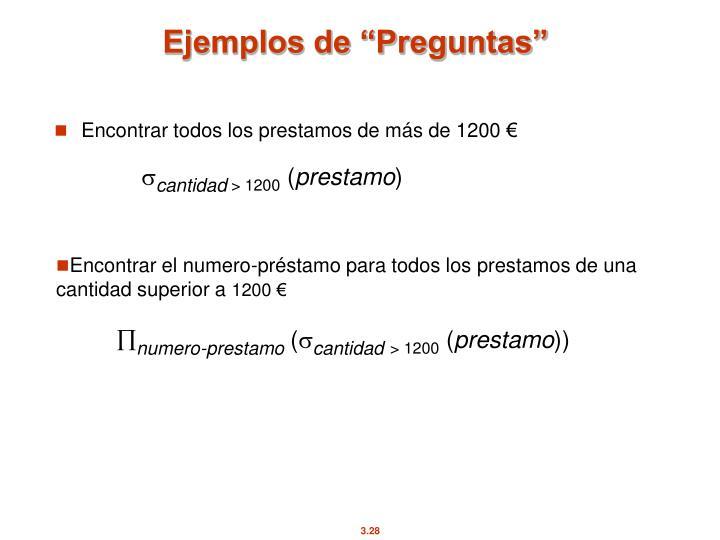 """Ejemplos de """"Preguntas"""""""