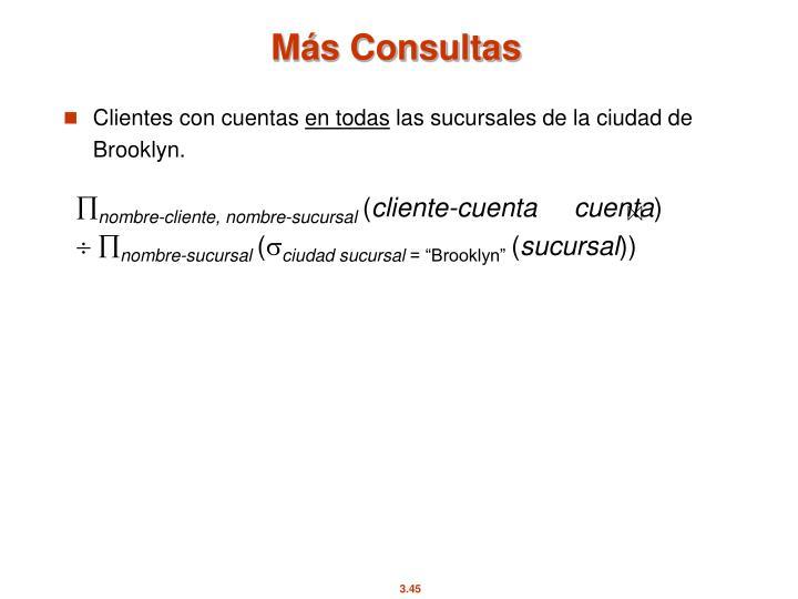 Más Consultas