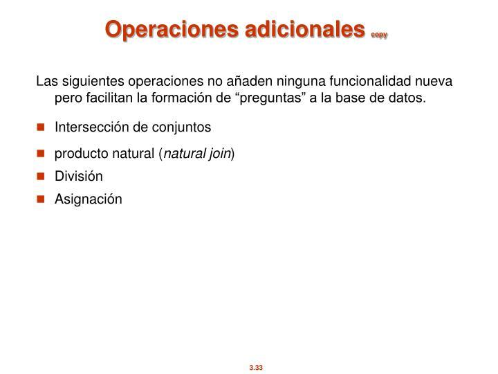 Operaciones adicionales