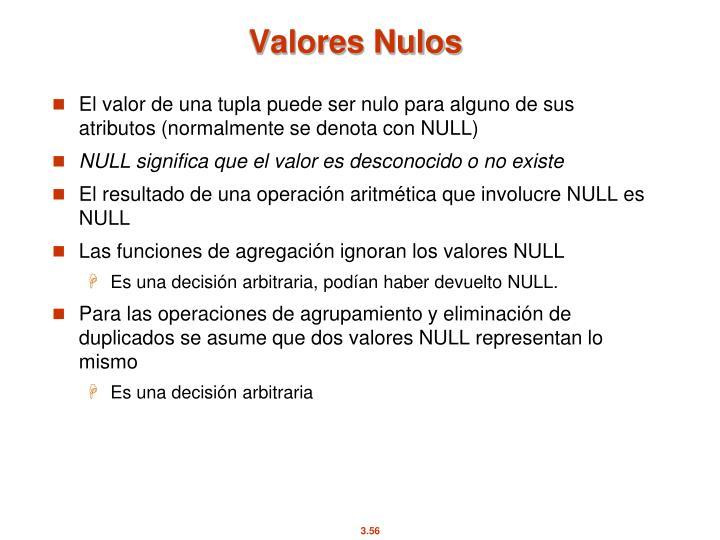 Valores Nulos