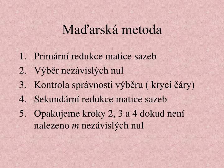 Maďarská metoda