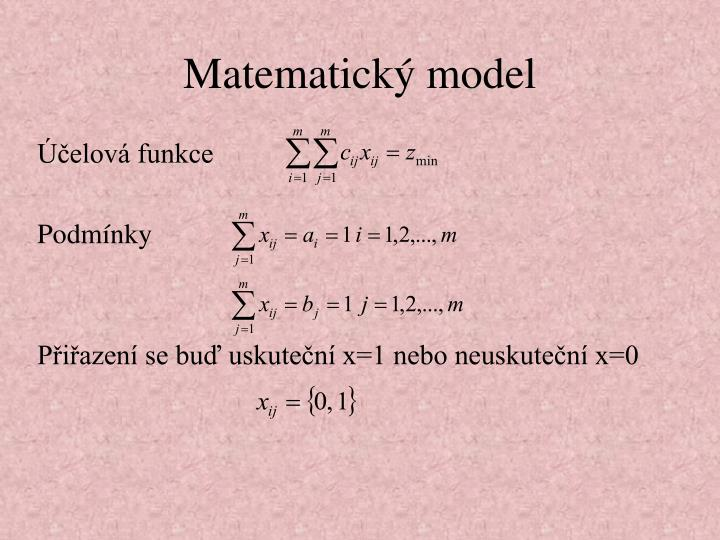 Matematick model