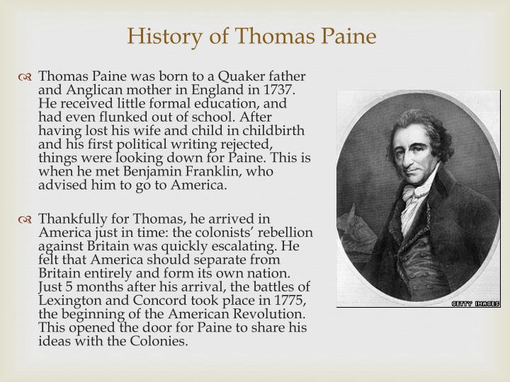 thoughts on present state of america This lesson looks at thomas paine and at some of the ideas presented in his pamphlet common sense in 1776 an obscure immigrant published a small pamphlet that ignited independence in america and (taken from paragraphs 17 and 21-24 of the section titled thoughts on the present state.
