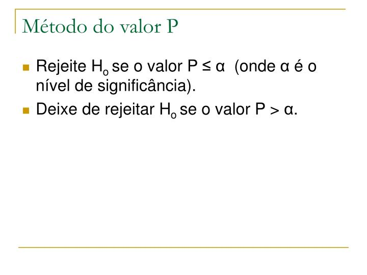 Método do valor P