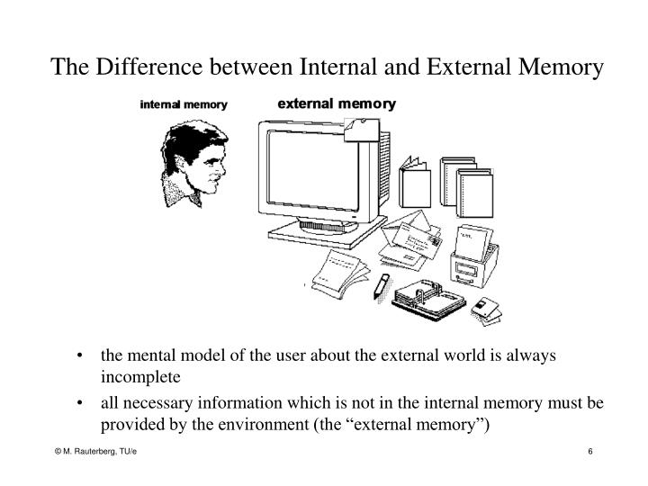 The Difference between Internal and External Memory