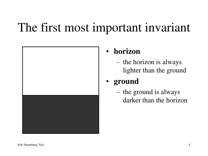 The first most important invariant