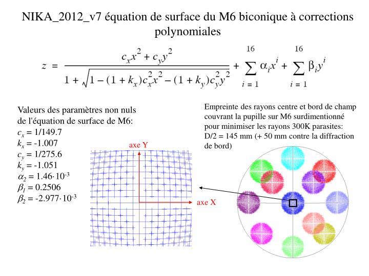 Nika 2012 v7 quation de surface du m6 biconique corrections polynomiales