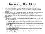 processing resultsets