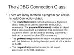 the jdbc connection class