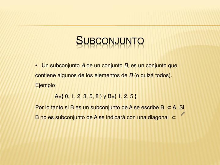 Subconjunto