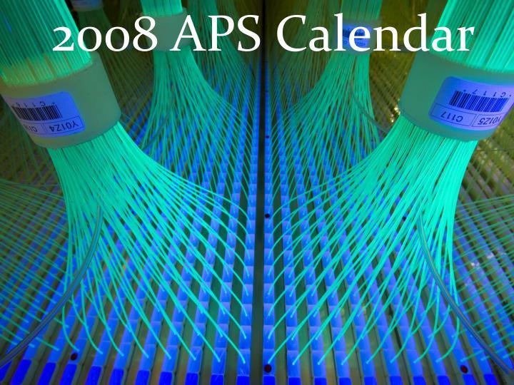 2008 APS Calendar