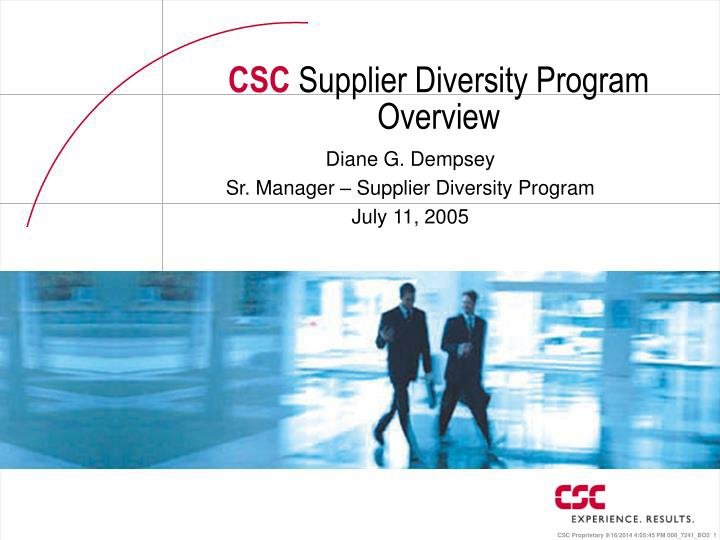 csc supplier diversity program overview n.