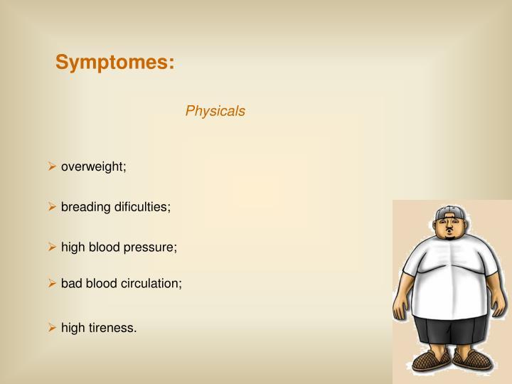 Symptomes: