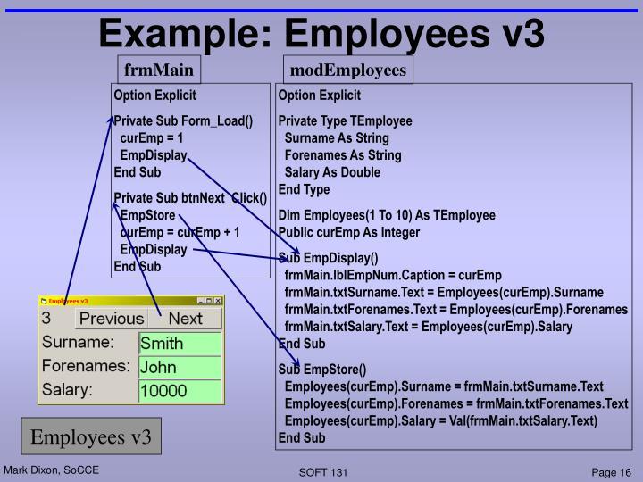Example: Employees v3