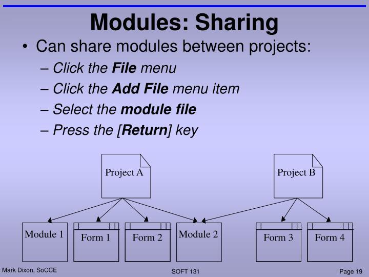 Modules: Sharing
