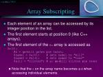 array subscripting