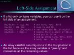 left side assignment