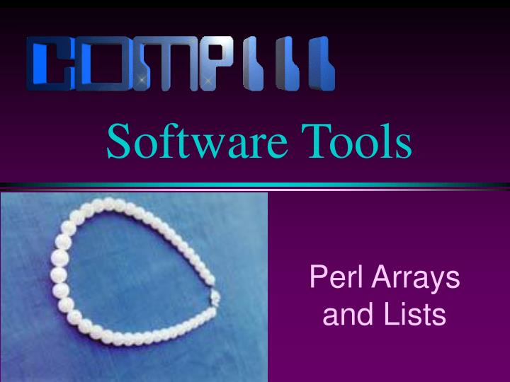 perl arrays and lists