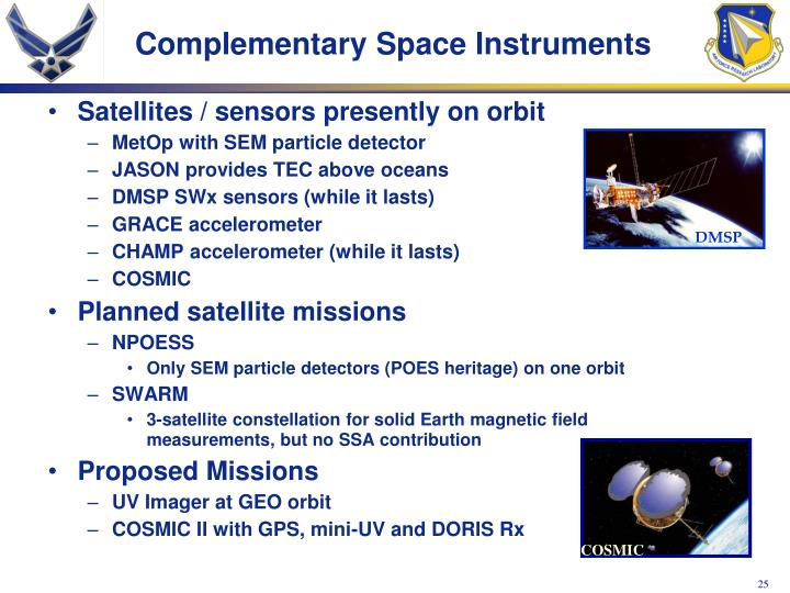 Complementary Space Instruments
