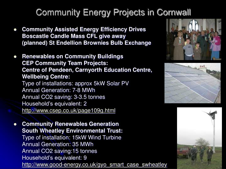 Community Energy Projects in Cornwall