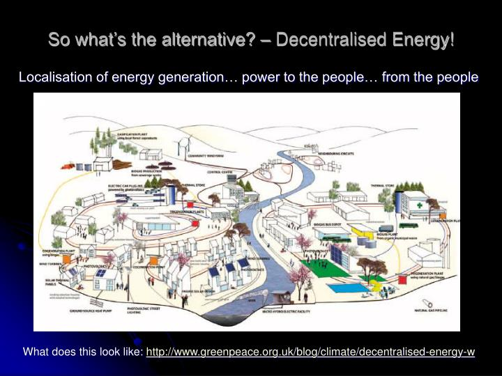 So what's the alternative? – Decentralised Energy!