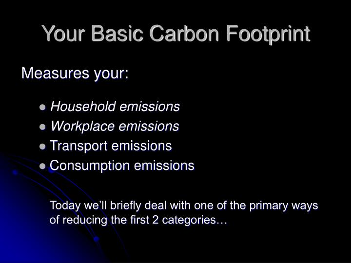 Your Basic Carbon Footprint