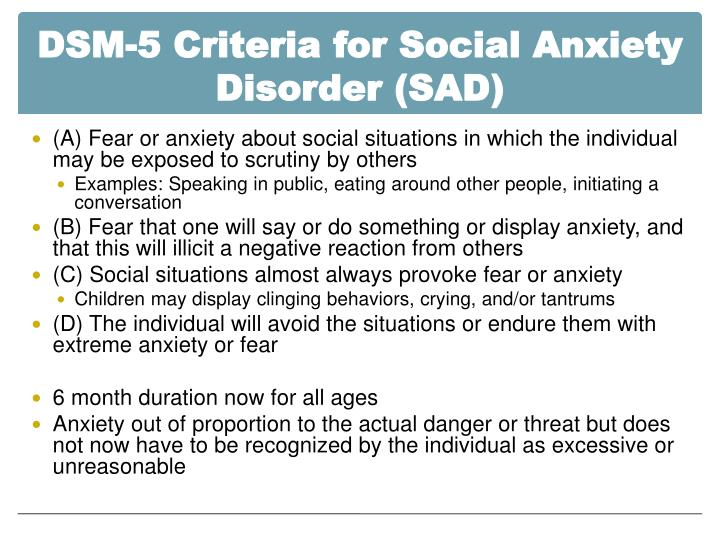 PPT - Chapter 5 : Social Anxiety Disorder PowerPoint ...