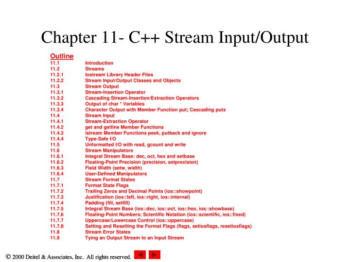 chapter 11 c stream input output n.