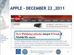 apple december 22 2011
