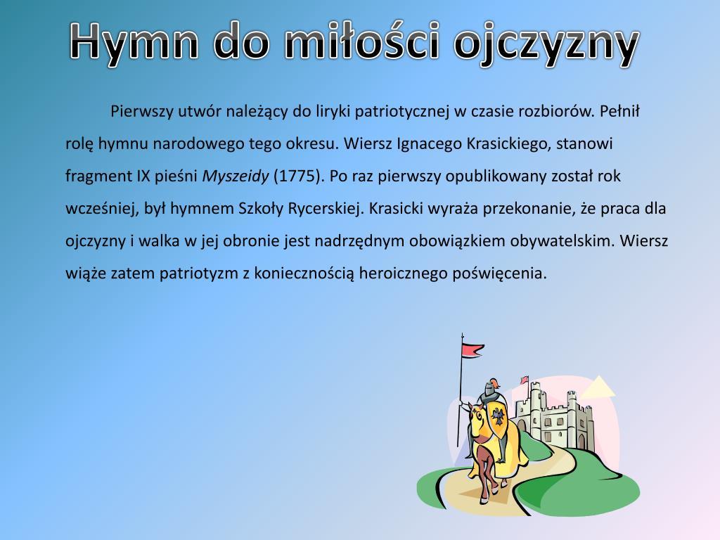 Ppt Szczególnie Ważne Pieśni Dla Polaków Powerpoint