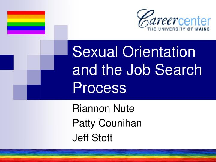 sexual orientation and the job search process n.