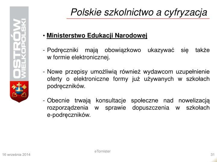 Polskie szkolnictwo a cyfryzacja