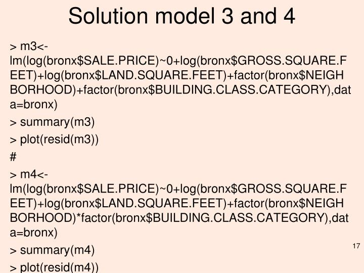 Solution model 3 and 4