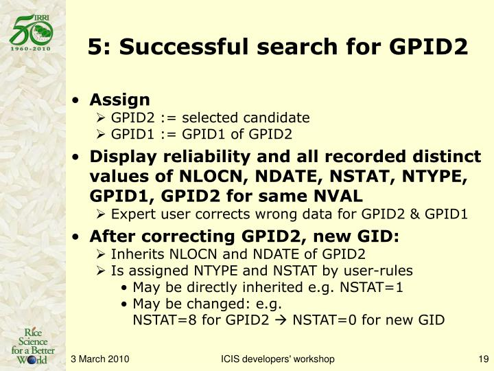 5: Successful search for GPID2