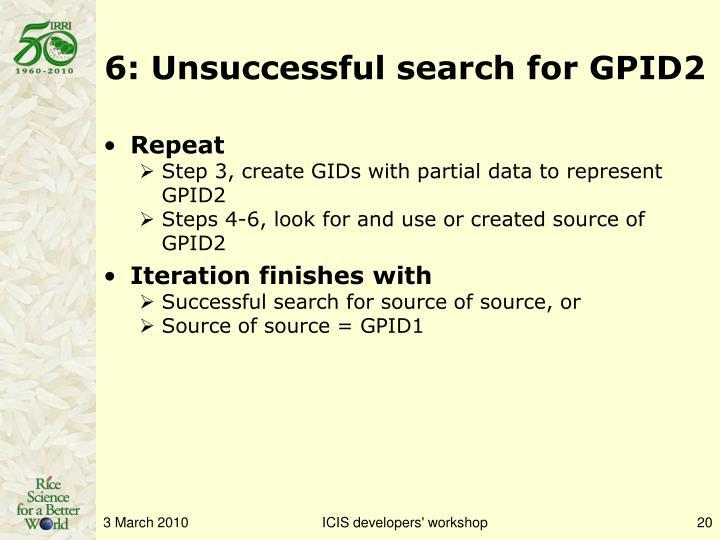6: Unsuccessful search for GPID2
