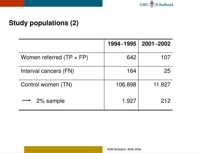 Study populations (2)