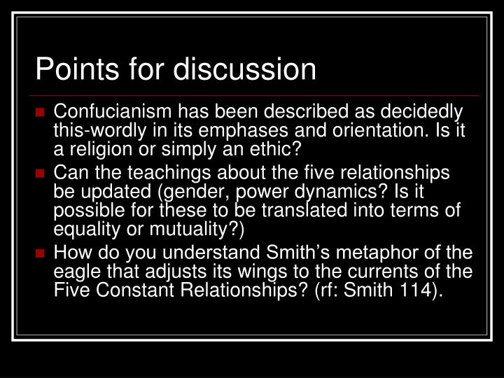 five relationships of confucianism definition
