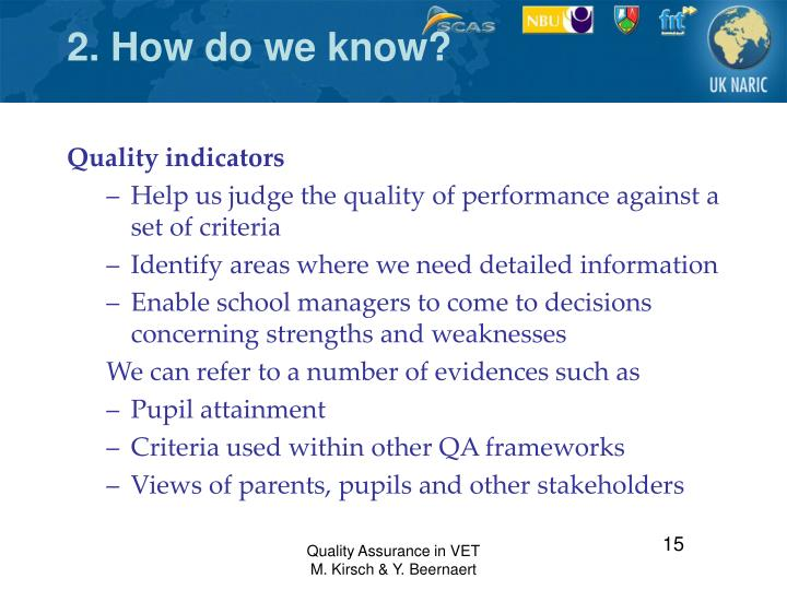 2. How do we know?