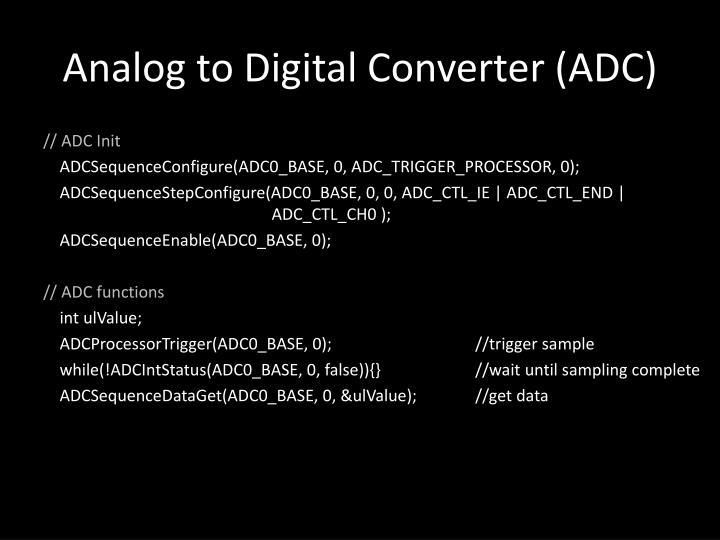 Analog to Digital Converter (ADC)